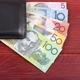 Australian money in the black wallet  - PhotoDune Item for Sale