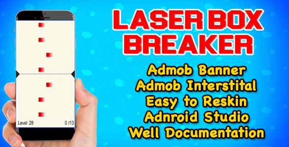 Laser Box Breaker Puzzle Game