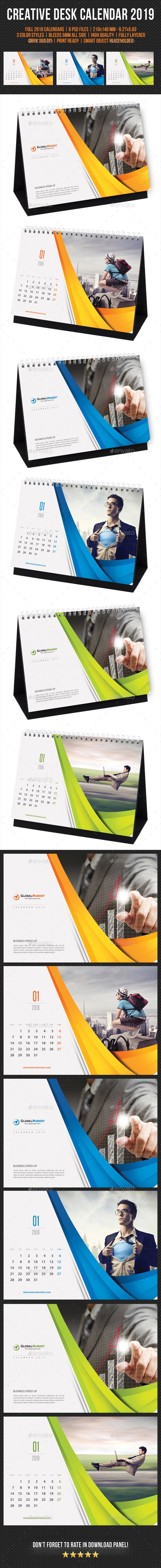 Creative Desk Calendar 2019 V11 - Calendars Stationery