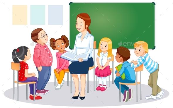 Teachers and Children - Miscellaneous Vectors