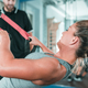 Personal trainer with woman in the gym - PhotoDune Item for Sale