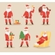 Christmas Santa Claus Vector Character Poses - GraphicRiver Item for Sale