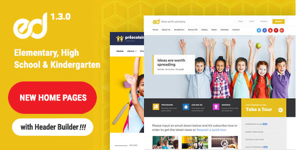Ed School: Education, Elementary-High School WordPress Theme