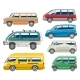 Van Car Vector Auto Vehicle Minivan Family Minibus - GraphicRiver Item for Sale