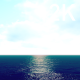 Bright Blue Sky with White Clouds over the Blue Ocean - VideoHive Item for Sale