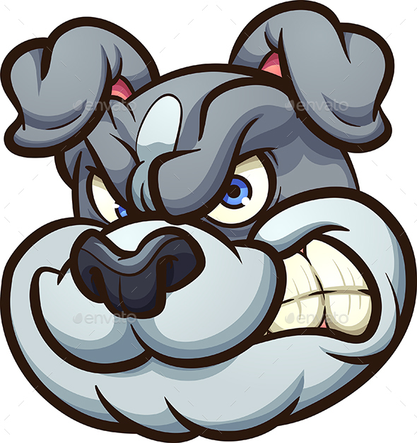Angry Bulldog - Animals Characters