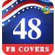 Independence Day Facebook Cover Templates - 48 Designs - GraphicRiver Item for Sale