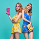 Two Model Young woman in Summer Outfit, Hairstyle - PhotoDune Item for Sale