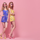 Two Model Woman, Fashion Summer Outfit, Hairstyle - PhotoDune Item for Sale