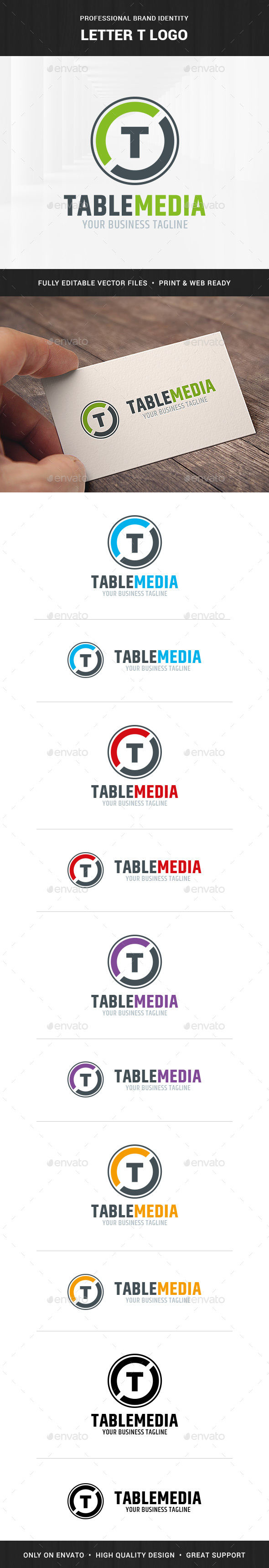 Letter T Logo Template - Letters Logo Templates