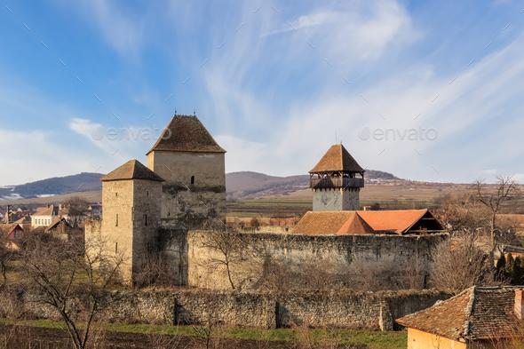 The Garbova fortress. Transylvania, Romania - Stock Photo - Images