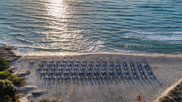 Paradise beach. Thassos Island, Greece - Stock Photo - Images