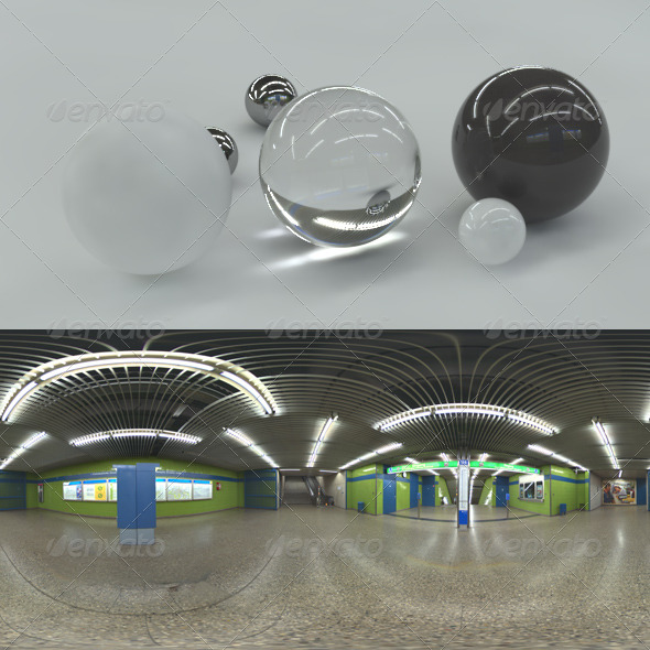 HDRI spherical panorama - subway - 3DOcean Item for Sale