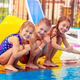 Happy kids near the pool - PhotoDune Item for Sale