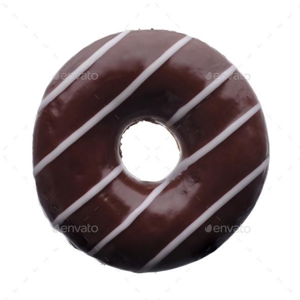 Dark chocolate donut - Stock Photo - Images