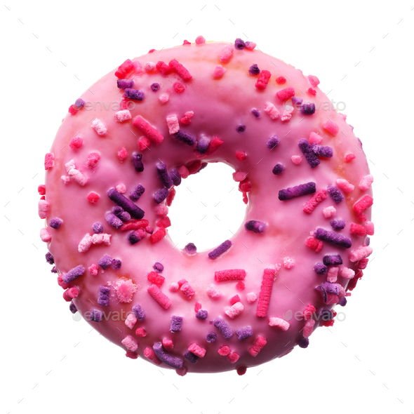 Pink donut - Stock Photo - Images