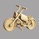 Wooden toy motorbike - 3DOcean Item for Sale