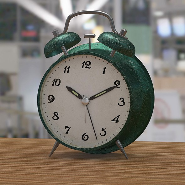 Green alarm clock - 3DOcean Item for Sale