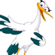 Pointing Stork - GraphicRiver Item for Sale