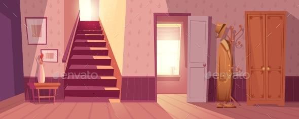 Retro Room Interior Vector Illustration - Miscellaneous Vectors