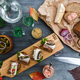 Appetizers with bread and lard, top view - PhotoDune Item for Sale
