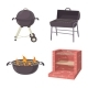 BBQ Place Tool Icon Set - GraphicRiver Item for Sale