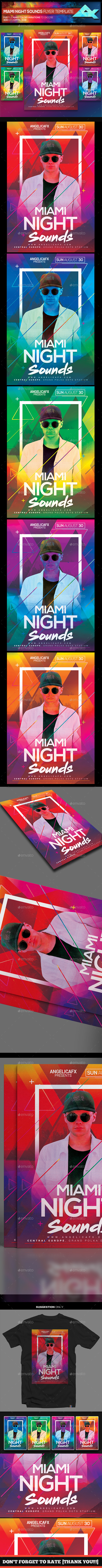 Miami Night Sounds Flyer Template
