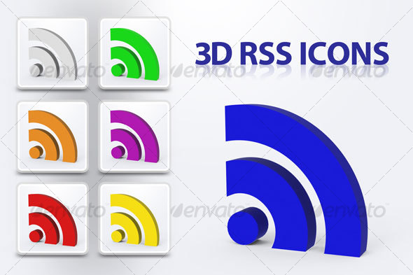 3D RSS Icons - Technology 3D Renders