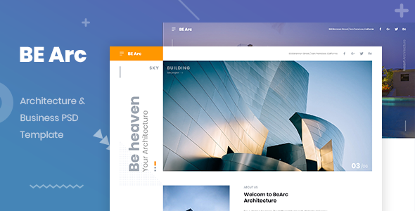 BeeAchi Architecture & Business PSD Template - Business Corporate