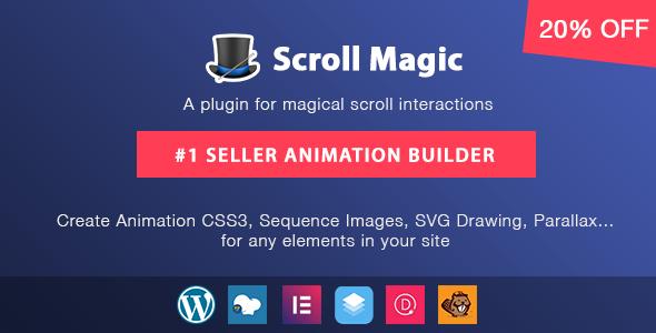 Scroll Magic Wordpress v3.3.2.2 - Scrolling Animation Builder Plugin