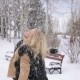 Laughing Young Woman Having Fun in Winter Park. - VideoHive Item for Sale