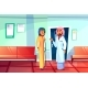 Muslim Doctor and Patient Vector Illustration - GraphicRiver Item for Sale