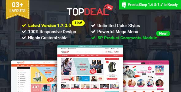 Image of TopDeal - Multipurpose Responsive PrestaShop 1.6 & 1.7 Theme