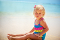 Adorable little girl on the beach - PhotoDune Item for Sale
