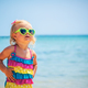Cute baby girl on the beach - PhotoDune Item for Sale