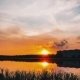 Sunset Behind the Lake on a Summer Evening - VideoHive Item for Sale
