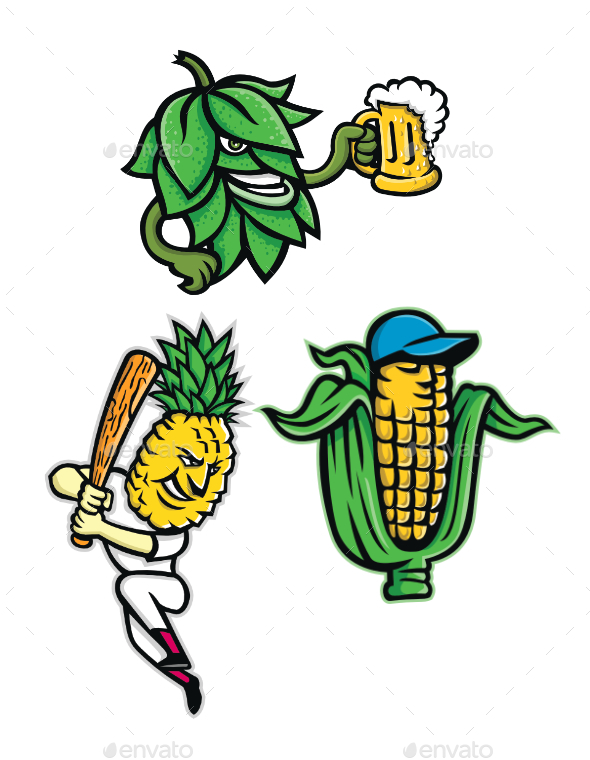 Fruits and Vegetables Mascot Collection - Food Objects