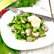 Salad with radishes and sorrel in plate on board - PhotoDune Item for Sale