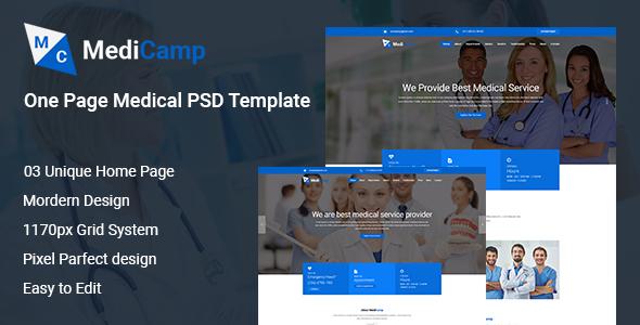 MediCamp Medical PSD Template - PSD Templates