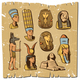 Vintage Colored Ancient Egyptian Elements Collection - GraphicRiver Item for Sale