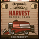 Vintage Colored Agricultural Harvesting Poster - GraphicRiver Item for Sale