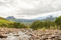 Tugela River and the Amphitheatre in the Kwazulu-Natal Drakensberg - PhotoDune Item for Sale
