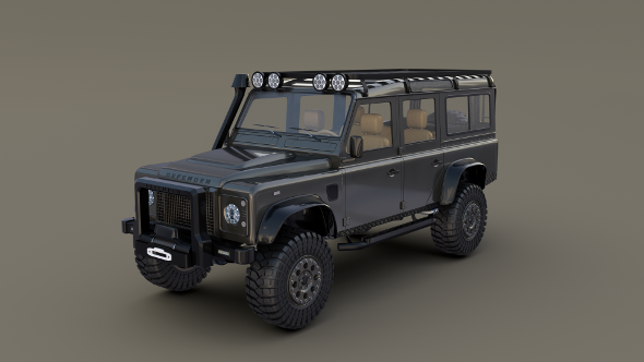 Land Rover Defender 110 Custom v1 - 3DOcean Item for Sale