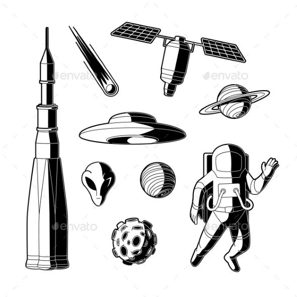 Vector Space Silhouettes - Miscellaneous Vectors