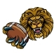 Lion American Football Ball Sports Mascot - GraphicRiver Item for Sale