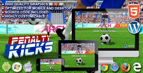 Penalty Kicks - HTML5 Sport Game - CodeCanyon Item for Sale