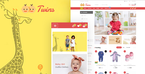 Leo Twins - excellent Prestashop 1.7 theme for toy store| baby store| accessories store - Shopping PrestaShop