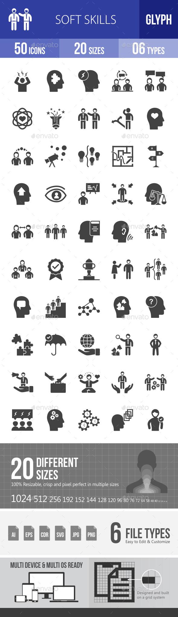 Soft Skills Glyph Icons - Icons