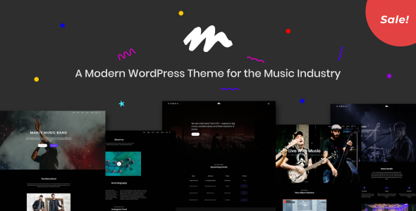 Image of Marly - A Modern WordPress Theme for the Music Industry