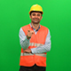 Architect or Construction Worker Looking Up on Green Screen. Right Side. - VideoHive Item for Sale